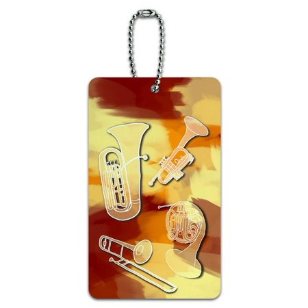 - Brass - Music Musical Instruments Band Orchestra ID Card Luggage Tag