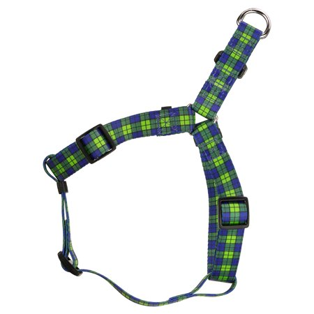 Country Brook Design® Blue and Green Plaid Step-In Dog Harness
