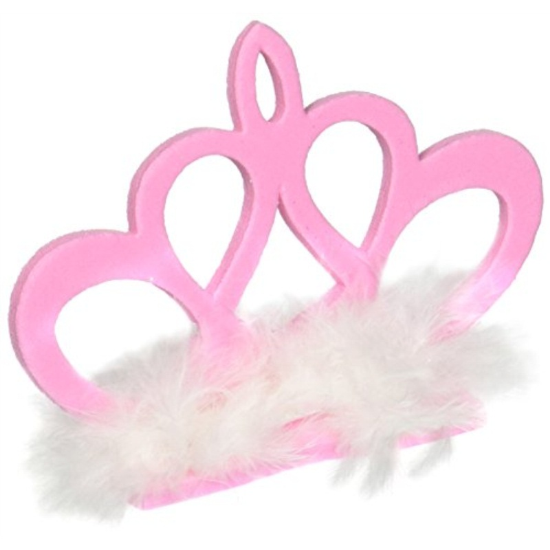 Pink Crown Hair Clip Party Accessory 1 count 1Pkg