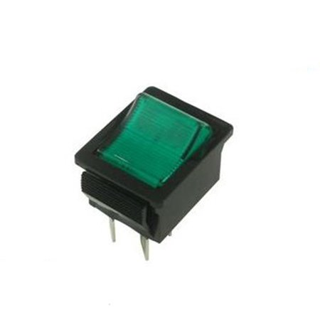 06WX0620 Arcolectric Switches C1553Vqnal Rocker Switch, Dpst, 20A, 250Vac, Green ()