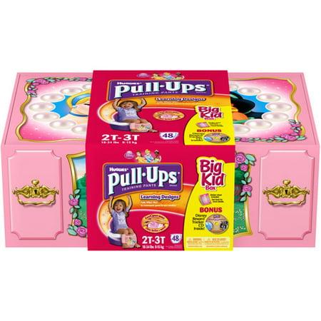 Huggies Pull Ups Big Kid Pack Girl 2t/3t - Walmart.com