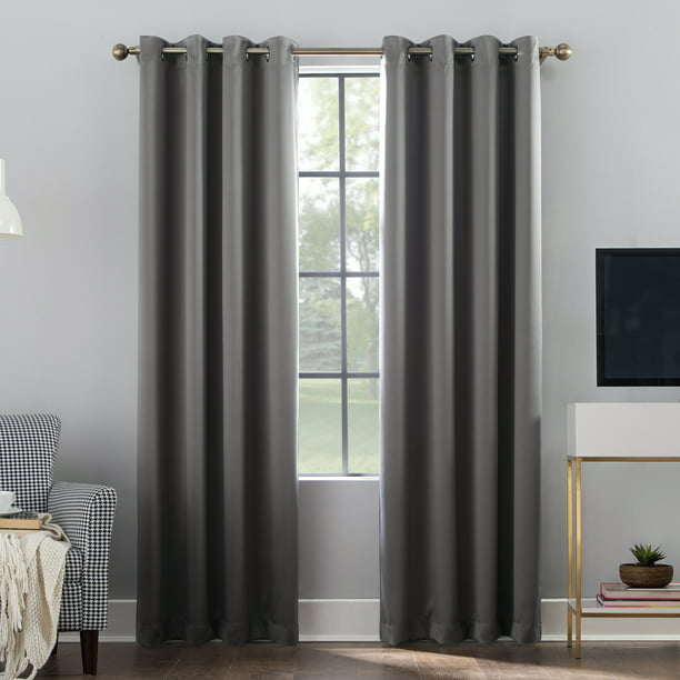 Sun Zero Oslo Theater Grade 100% Blackout Grommet Curtain