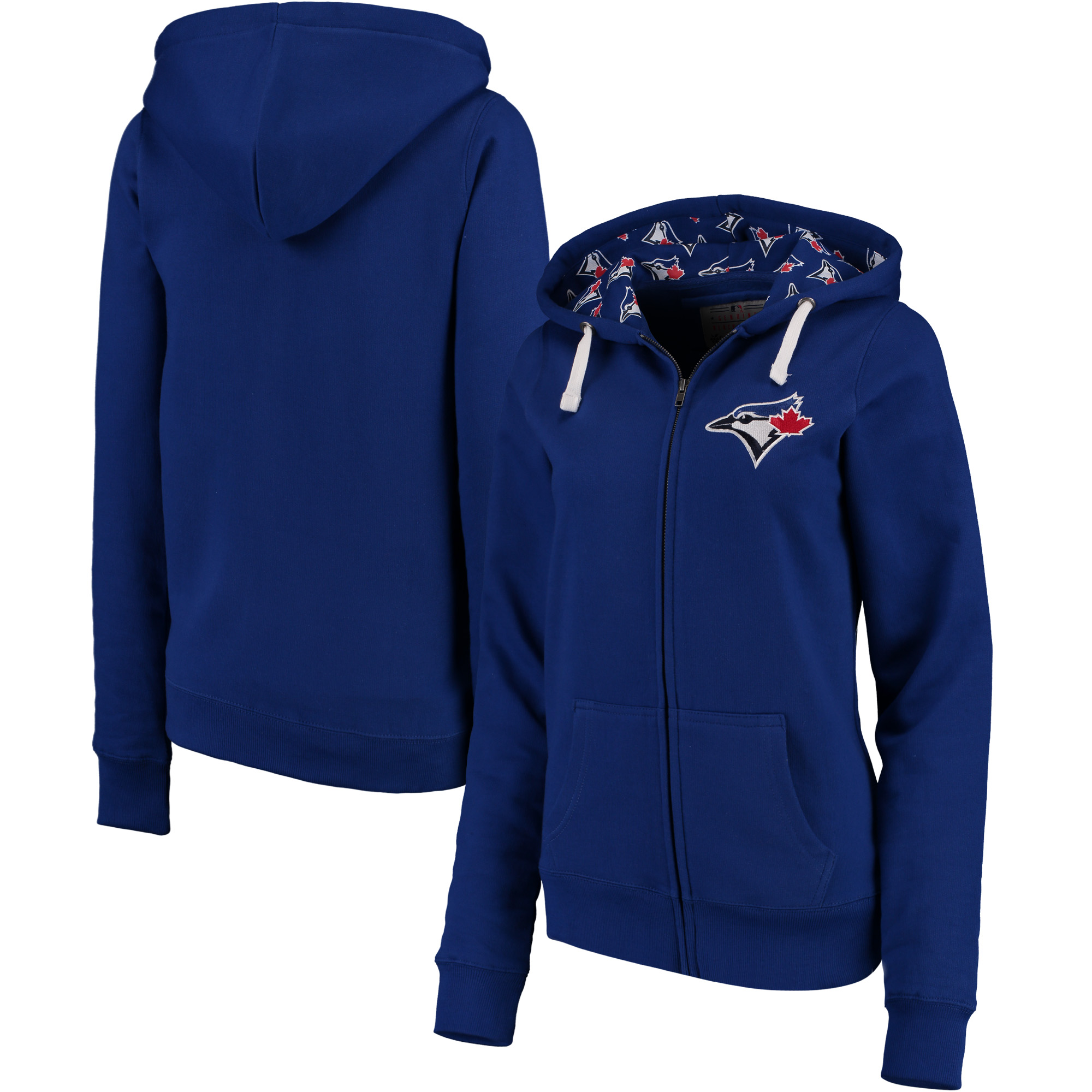 Toronto Blue Jays Soft as a Grape Women's Line Drive Full-Zip Hoodie - Royal