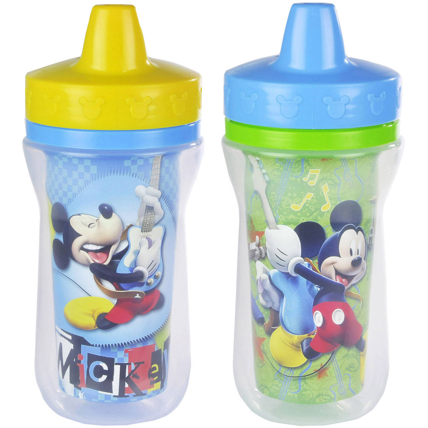 The First Years Disney Baby Mickey Mouse Insulated Sippy Cup with One Piece Lid, BPA-Free -  9 oz, 2 pack