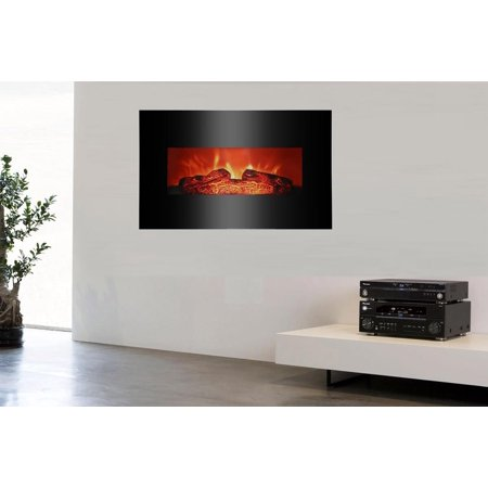 Ktaxon Electric Fireplace Wall Mounted Decor Fire Flame 26
