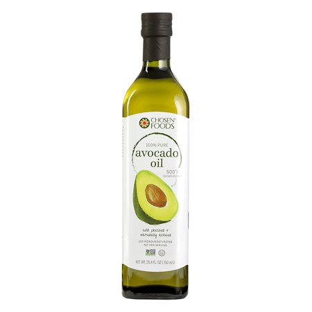 Chosen Foods 100% Pure Avocado Oil 25.3 oz., Non-GMO, for High-Heat Cooking, Frying, Baking, Homemade Sauces, Dressings and Marinades ()