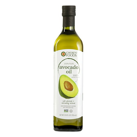 Chosen Foods 100% Pure Avocado Oil 25.3 oz., Non-GMO, for High-Heat Cooking, Frying, Baking, Homemade Sauces, Dressings and (Best Healthy Cooking Oil For Frying)