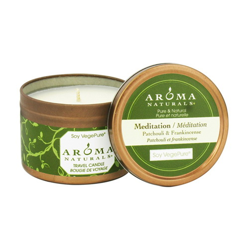 Aroma Naturals Meditation Soy Vege Pure Candle, Small Tin - 1 Ea