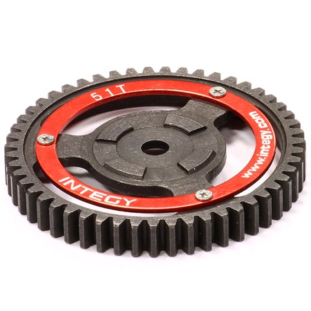 Heavy Duty Spur Gear - Integy RC Toy Model Hop-ups T7097 V2 Steel Spur Gear for HPI Savage-X, 21 & 25 51T