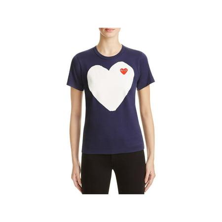 31aeb0bc7ab0 Comme des Garcons Womens Graphic Crew Neck T-Shirt - Walmart.com