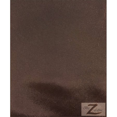 """Solid Polyester Taffeta 58""""/60"""" Fabric / Brown / Sold By The Yard"""