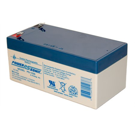 3ah Lead Acid Battery - 12V 3AH Sealed Lead Acid (SLA) Battery for BB BP3-12 F2 F1 ADAPTERS