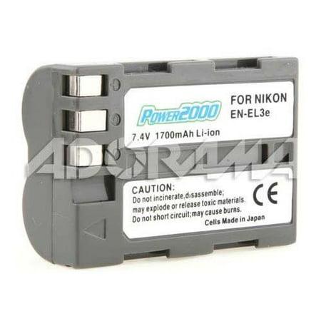 Power2000 EN-EL3E Replacement Lithium-Ion Rechargeable Battery 7.4v 1700mAh for Select Nikon Digital (Rechargeable Replacement Digital Camera)