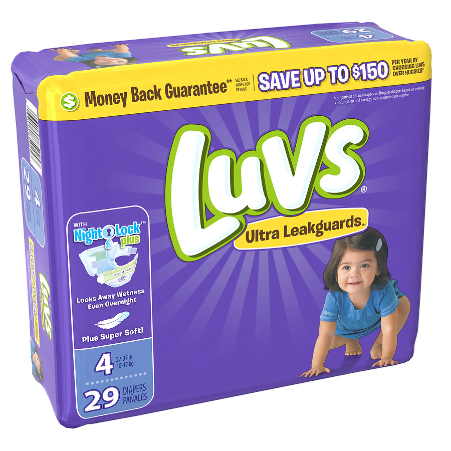 Luvs Ultra Leakguards Diapers Size 4 29.0 ea(pack of 1)