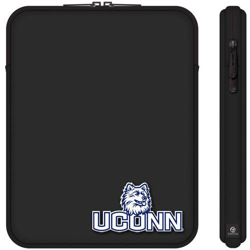 "Centon 10"" Classic Black Tablet Sleeve University of Connecticut"