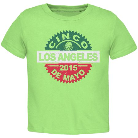 Cinco De Mayo - Los Angeles Lime Green Toddler T-Shirt ()