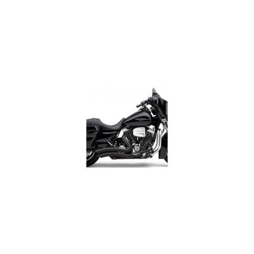 Cobra Speedster Exhaust Short Swept Black Fits 10-13 Harley-Davidson Road King EFI FLHRI