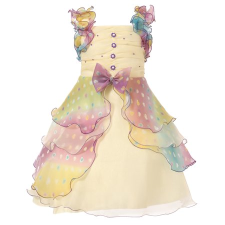Richie House Girls Purple Pastel Pearl Ruffled Special Occasion Dress 11/12 - Hot Se Girl