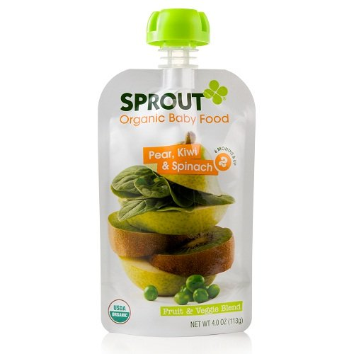 Sprout Pear, Kiwi & Spinach Fruit & Veggie Blend Organic Baby Food, 4 oz