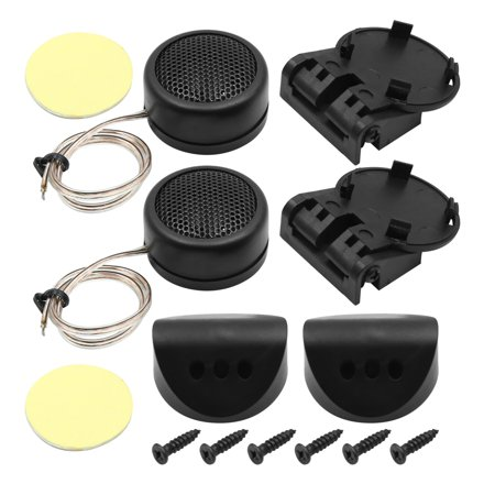 2 Pcs 36mm Dia Plastic Shell Pre-wired Dome Car Tweeter 300W Black - image 1 of 1