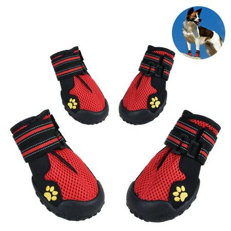 (Petacc Pet Boots Breathable Pet Mesh Shoes Non-slip Dogs Shoes)