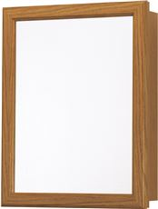 Oak Swing Door Medicine Cabinet, 16 In. W X 20 In. H by RSI Home Products