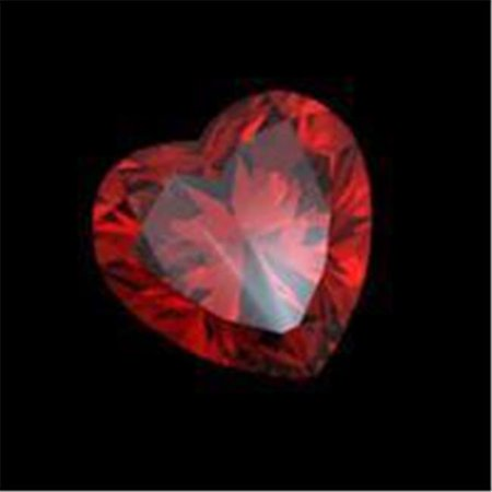 Si Ruby - Harry Chad Enterprises 7572 2 CT Si Red Loose Sparkling Heart Cut Red Ruby