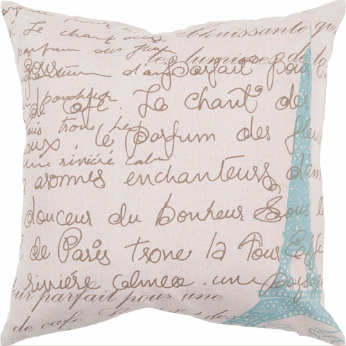 Art of Knot Almada Blue Cotton/Linen Decorative Pillow with Down Fill