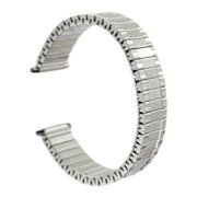 Hadley Roma MB7036W 16-21mm Squeeze End Steel Expansion Watch Band
