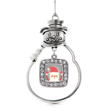 Jolly Santa Classic Snowman Holiday Ornament ()