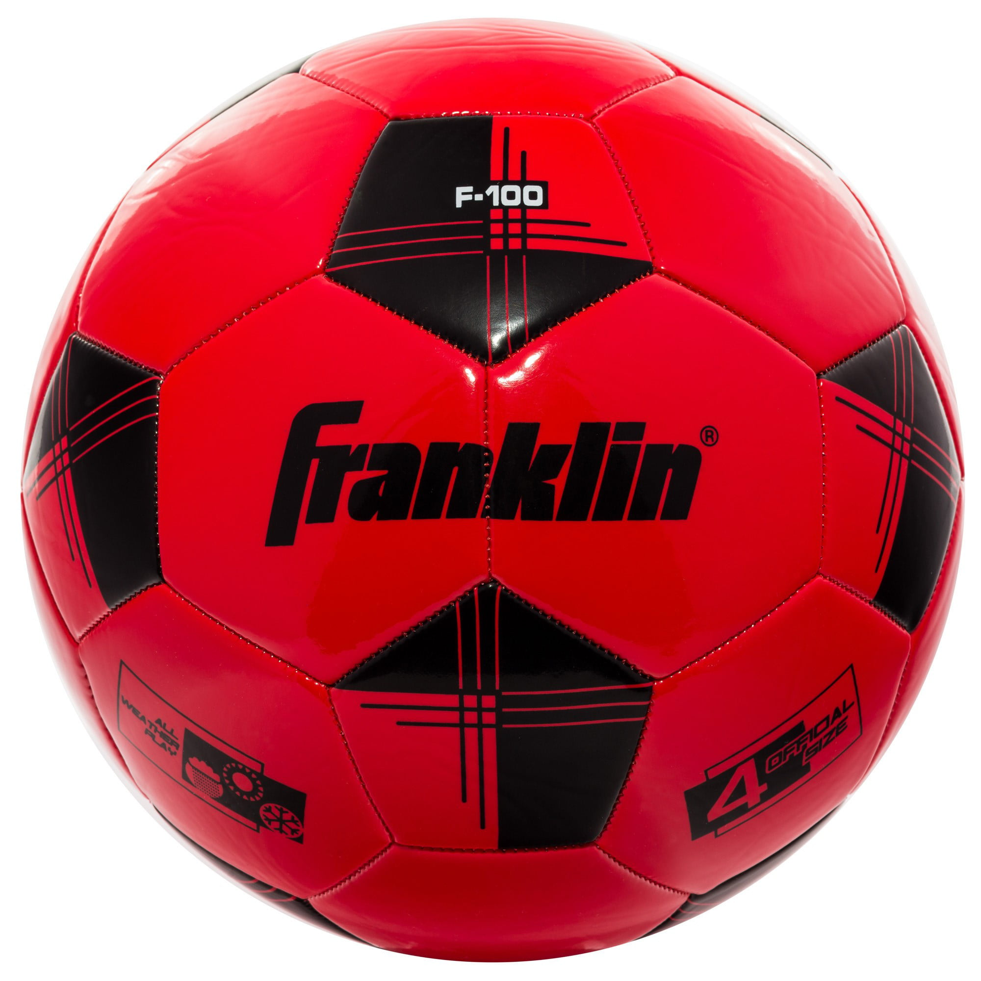 Franklin Sports Competition 100 Size 4 Soccer Ball-Black White by Franklin Sports