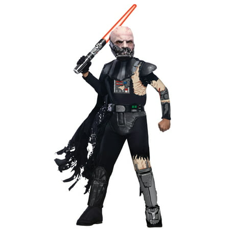 Boys Deluxe Battle Damage Vader Halloween Costume