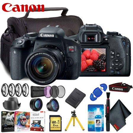 Canon EOS Rebel T7i DSLR Camera Accessory Kit - Includes - 18-55mm Lens + Advanced Filter Set + More!