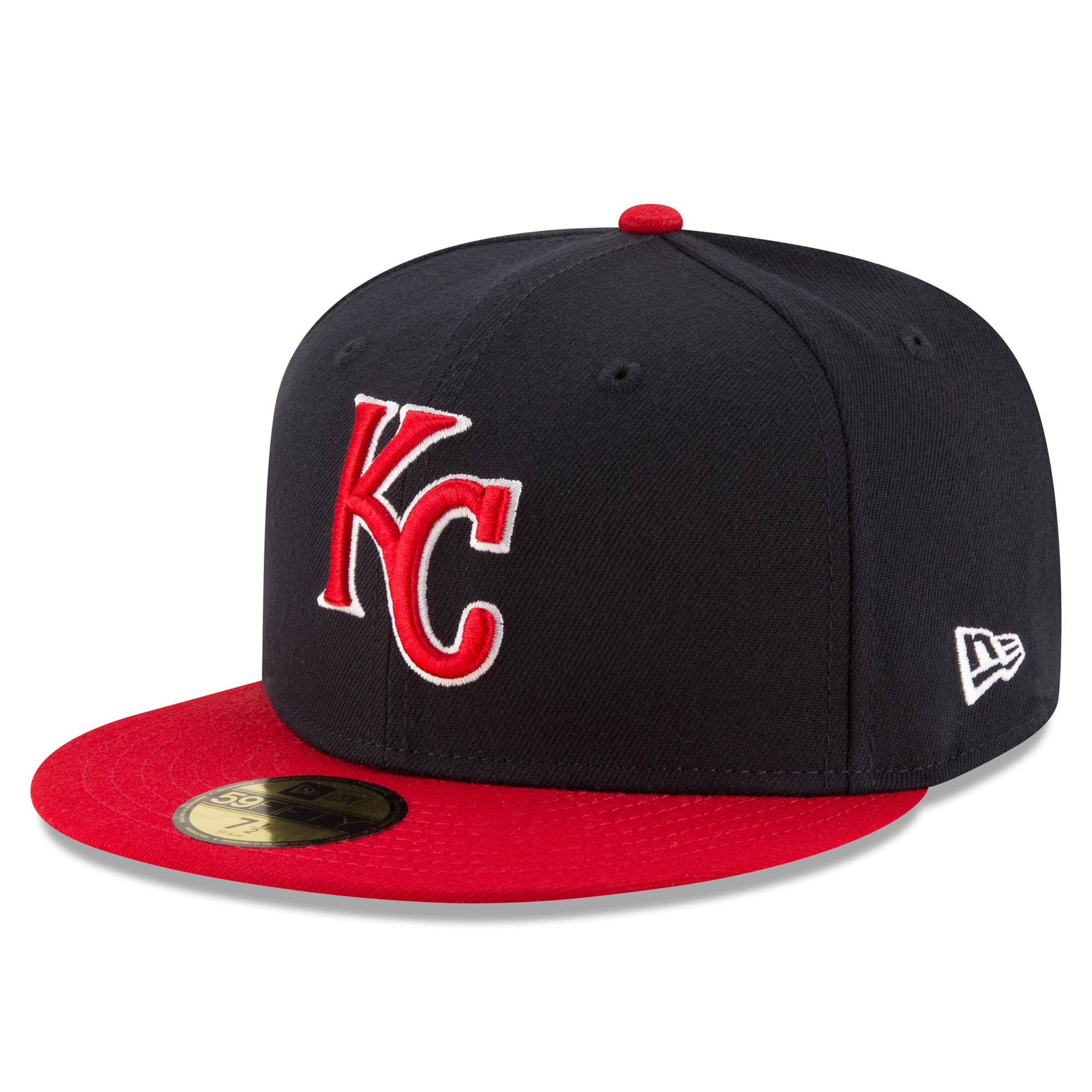 Men's New Era Navy/Red Kansas City Royals Country Colors Redux 59FIFTY Fitted Hat