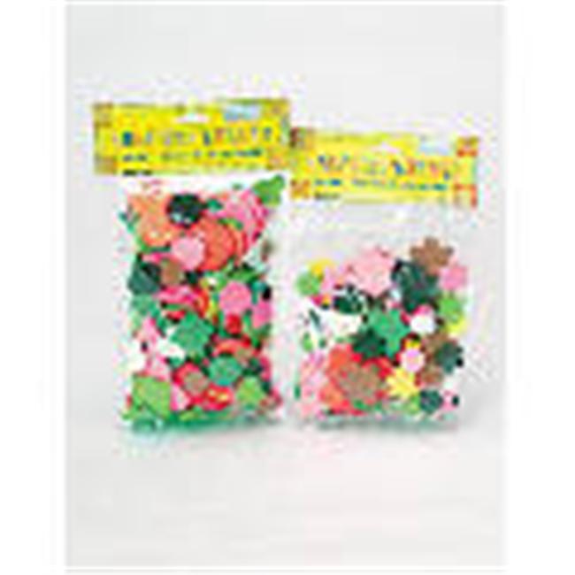 Bulk Savings 73532 Heart- Flower Foam Cubes-Pack of 24