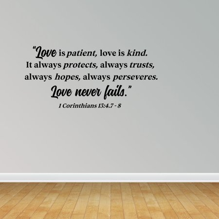 Love Is Patient Quote Fascinating Wall Decal Quote Love Is Patient Love Is Kind It Always Protects