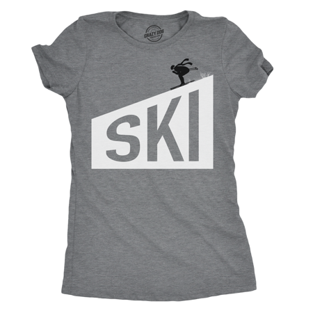 Womens Ski Downhill T shirt Cool Design for Winter Sports Christmas Idea ()