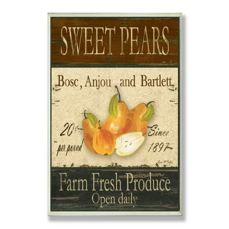 Sweet Pears Farm Fresh Produce Kitchen Wall Plaque