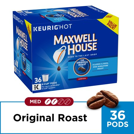 (2 Pack) Maxwell House Original Roast Coffee K-Cup Pods, 36