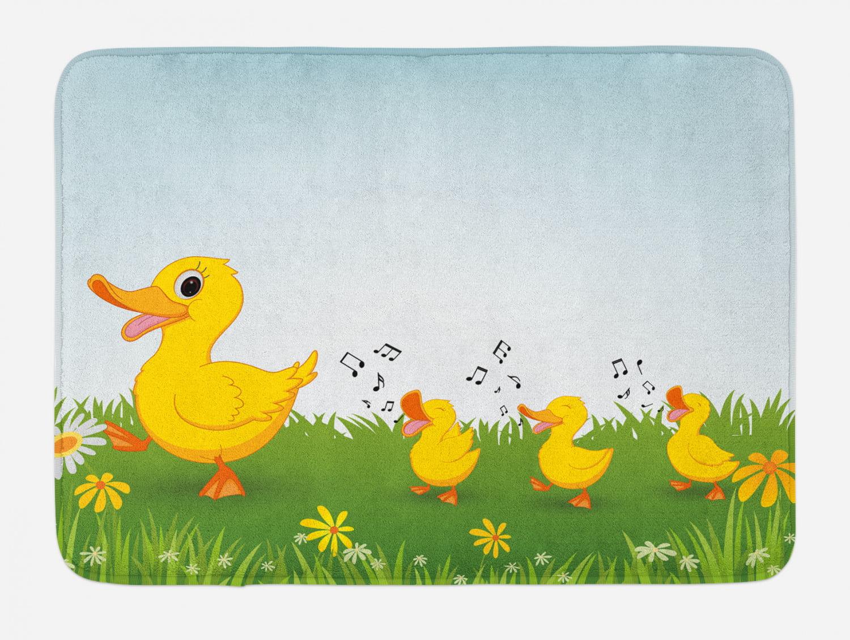 "Gerber Daisy Bath Mat Bathroom Decor Plush Non-Slip Mat 29.5/"" X 17.5/"""