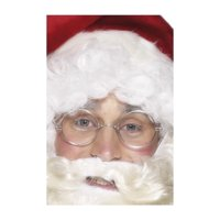 """15"""" Silver Framed Christmas Santa Unisex Adult Specs Costume Accessory - One Size"""
