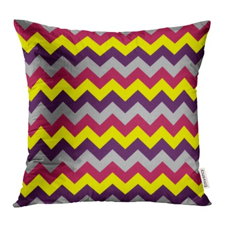CMFUN Abstract Chevron Pattern Arrows Geometric Design Colorful Yellow Grey Black Dark Red Pillowcase Cushion Cases 20x20 inch ()