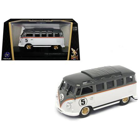 1962 Volkswagen Microbus #5 Van Bus White 1/43 Diecast Model by Road Signature