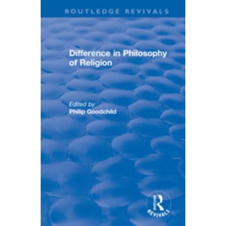 Difference in Philosophy of Religion - eBook