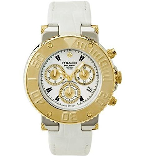 Mulco BLUEMARINE Leather Chronograph Ladies Watch - White