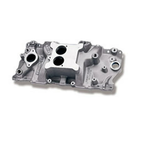 Holley Performance 300-66 Strip Dominator Intake Manifold; Low Rise; Dual Plane; w/EGR; EFI; Front Height 3.91in./Rear Height 5.40in.; 1987-Later w/Alum.Heads; RPM Power Band Idle-6000; SatinFinish;