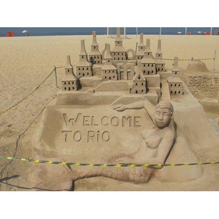 Canvas Print Rio Sandcastle Beach Art Sculpture Sand Stretched Canvas 10 x 14