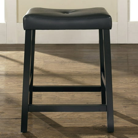 - Crosley Furniture Upholstered Saddle Seat Bar Stool with 24