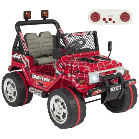 Best Choice Products 12V Ride On Car Truck W  Remote Control  Leather Seat  Lights  2 Speeds  Spiderman Red