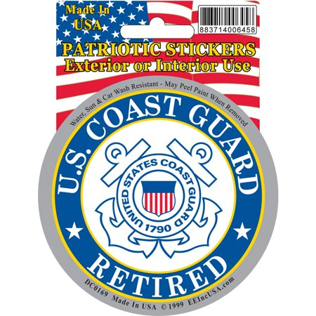 United States Coast Guard Retired Sticker - Coast Guard Retired